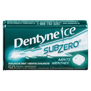 Dentyne SZ 50 Menthes Avalanche 22.5GR