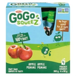 GS Compote Pomme 100% 4x90 GR